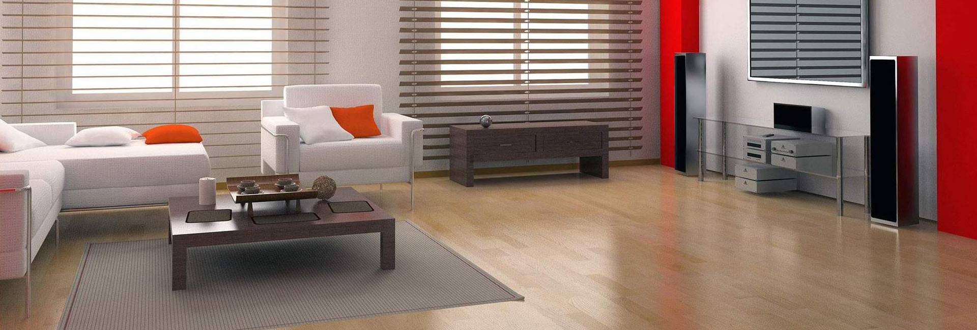 Πατώματα laminate, Μοντέρνα συστήματα σκίασης blinds, roller και κουρτίνας